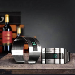 Wine Digital Thermometer Bracelet With Metal LCD, Bottle Thermometer, TME Online | TME Online