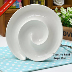 Spiral Ceramic Multi-function Dish Plate, Plate, TME Online | TME Online