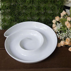 Spiral Ceramic Multi-function Dish Plate