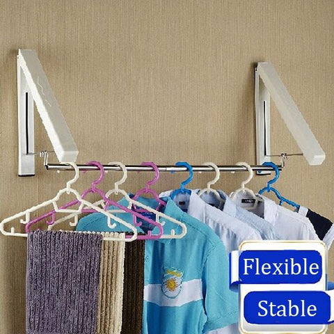 Wall Mounted Retractable Clothes Rack, Clothes Rack, TME Online | TME Online