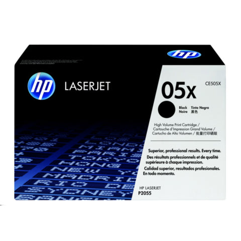 HP 05X High Yield Black Original LaserJet Toner Cartridge - CE505X, Toner Cartridge, HP | TME Online