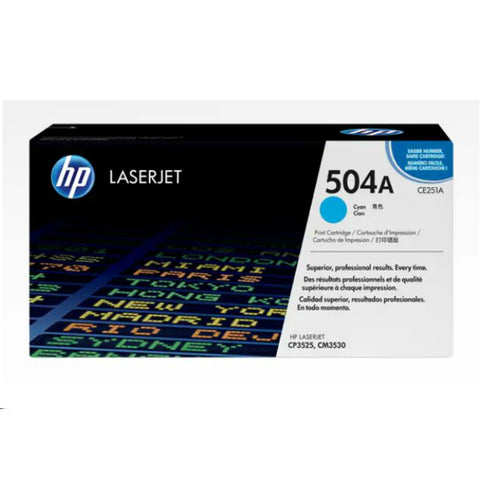 HP 504A Cyan Original LaserJet Toner Cartridge - CE251A, Toner Cartridge, HP | TME Online