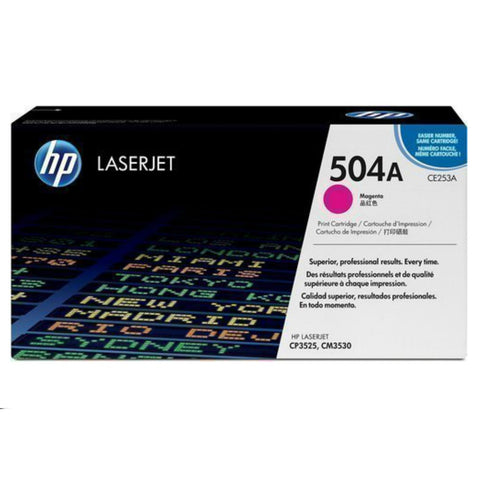 HP 504A Magenta Original LaserJet Toner Cartridge - CE253A, Toner Cartridge, HP | TME Online
