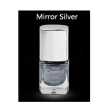 UV Gel Silver Nail Mirror Effect