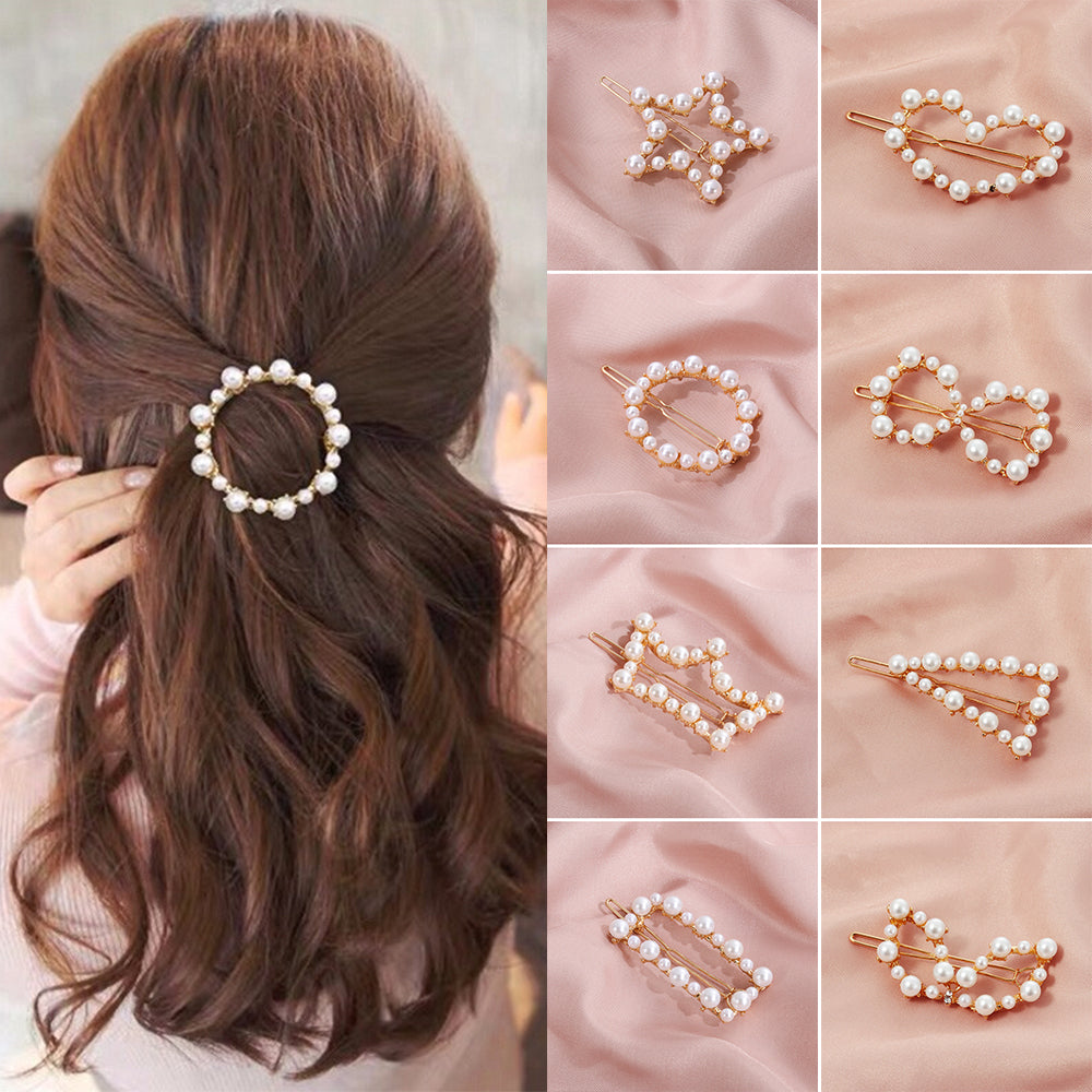 Pearl Hair Clips Hairstyle Accessories