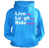 Live Laugh Ride Hoodie for Horse Lovers