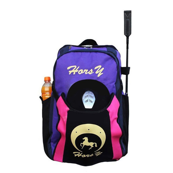 Equestrian Horse Riding Backpack w/ Hat Compartment