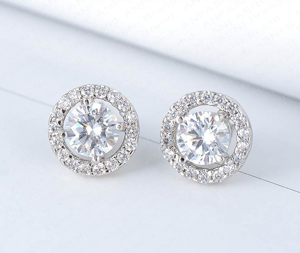 Elegant AAA Austrian Crystal Stud Earrings