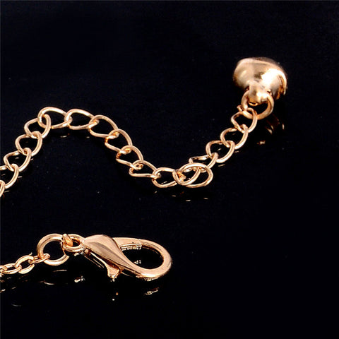 Gold Chain Owl Woman Anklets Bracelet