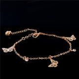 Gold Chain Butterfly Woman Anklets Bracelet