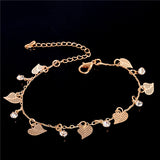 Gold Chain Hearts Woman Anklets Bracelet