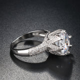 8ct Simulated Solitaire Stone Silver Ring