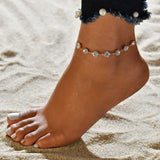 Gold Chain Woman Anklet Bracelet With Crystals