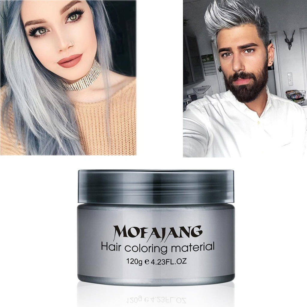 Mofajang Hair Color Wax Temporary Hairstyle Cream Unisex Dye Cream