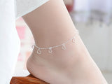925 Sterling Silver Love Anklet Jewelry