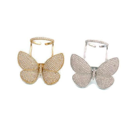 Micro Pave Butterfly Ring