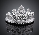 Crystal Crown Silver Ring