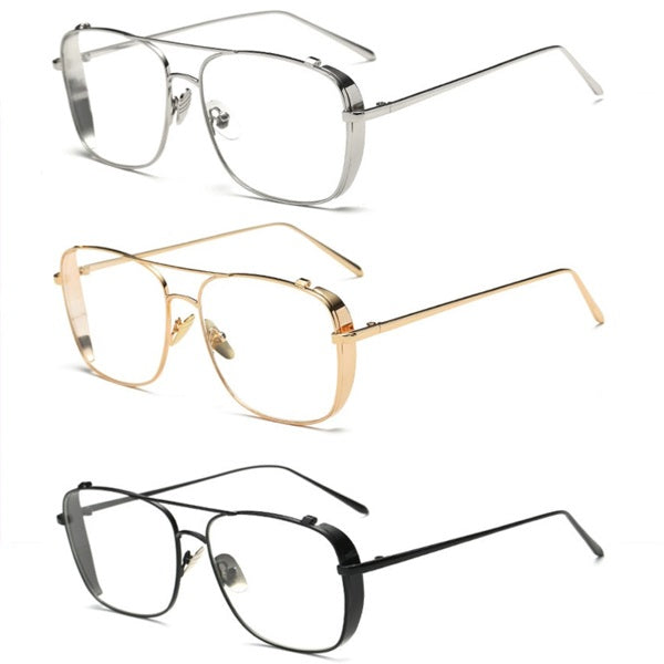 Square Oversized Vintage Clear Lens Sunglasses