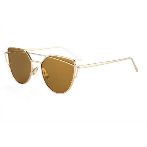 Luxury Cat Eye Twin Beam Sunglasses