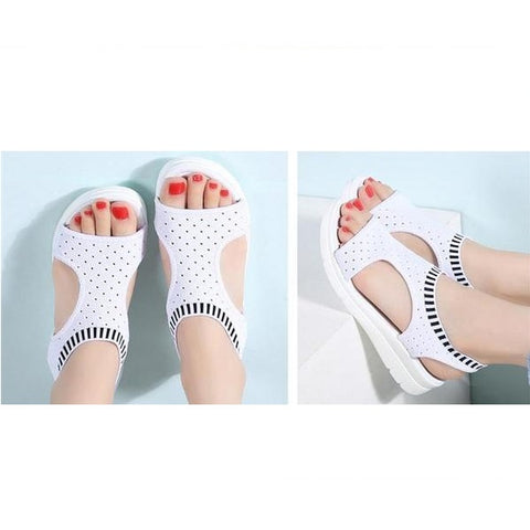Summer Wedge Comfort Ladies Slip on Flat Sandals