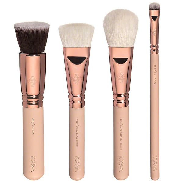 8Pcs Rose Golden Luxury Makeup Brush Set