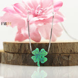 Lucky Clover Opal Necklace