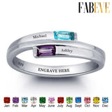 Personalized Birthstones Love Ring