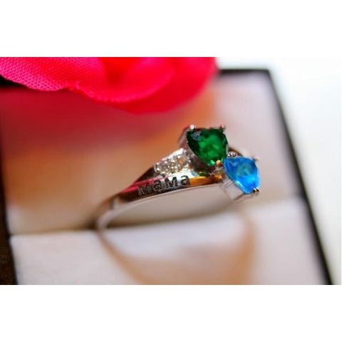 Personalized Birthstones Love Promise Ring