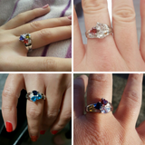 Personalized Birthstones Family Ring