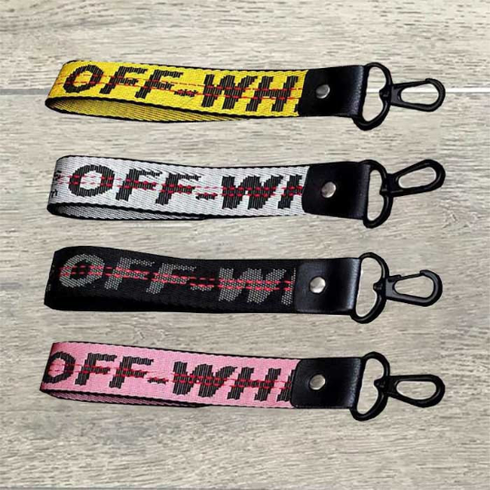Off White Landyard Industrial Keychain Belt Accessories Strap