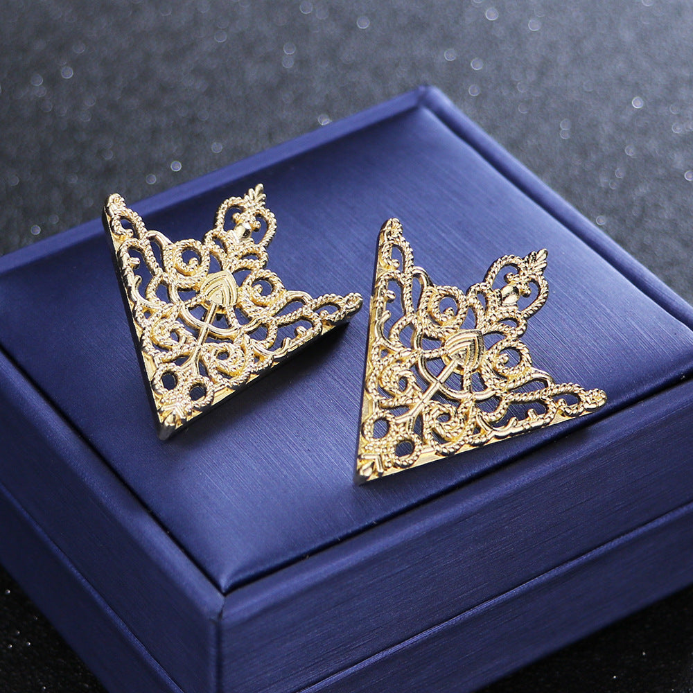 Gold Shirt Collar Pins Brooches Jewelry