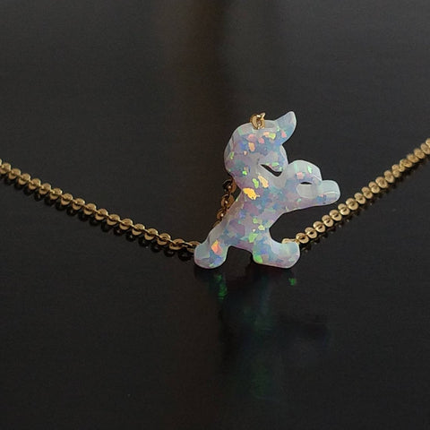Unicorn Fire Opal Necklace