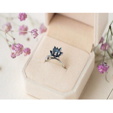 Black Lotus Flower Rings
