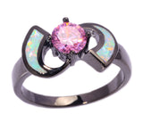 Unique Pink Fire Opal Ring
