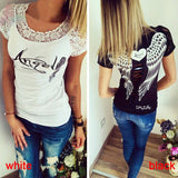 Back Hollow Angel Wings Gothic Tops
