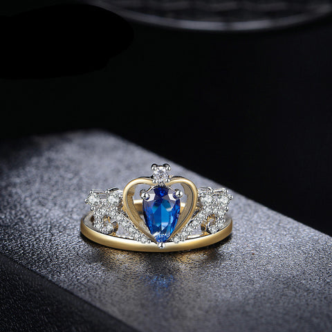 Blue Royal Crown Ring