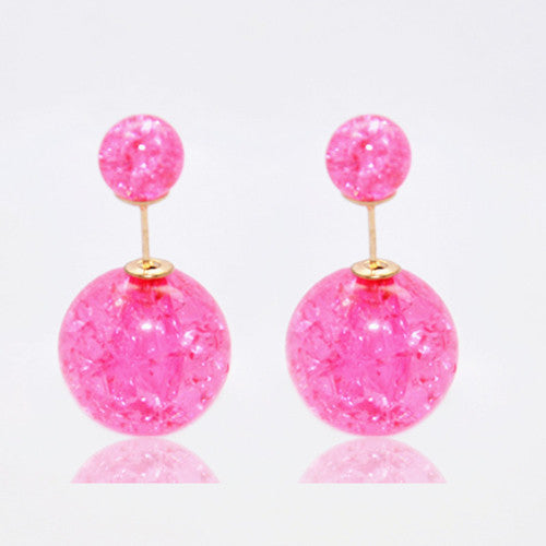 Candy Color Ball Stud Earrings