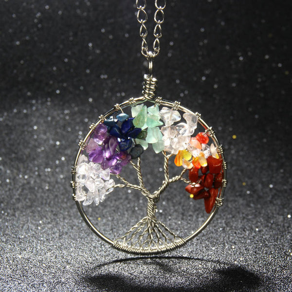 Tree Of Life Natural Stone Necklace