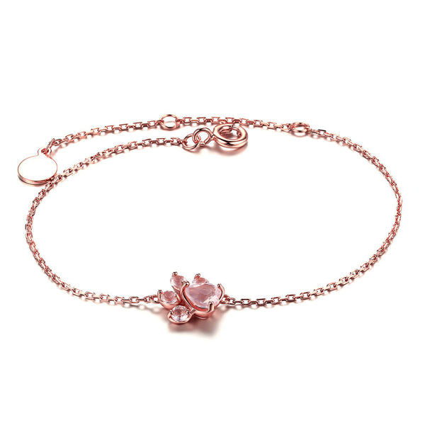 Paw Rose Quartz Bracelet