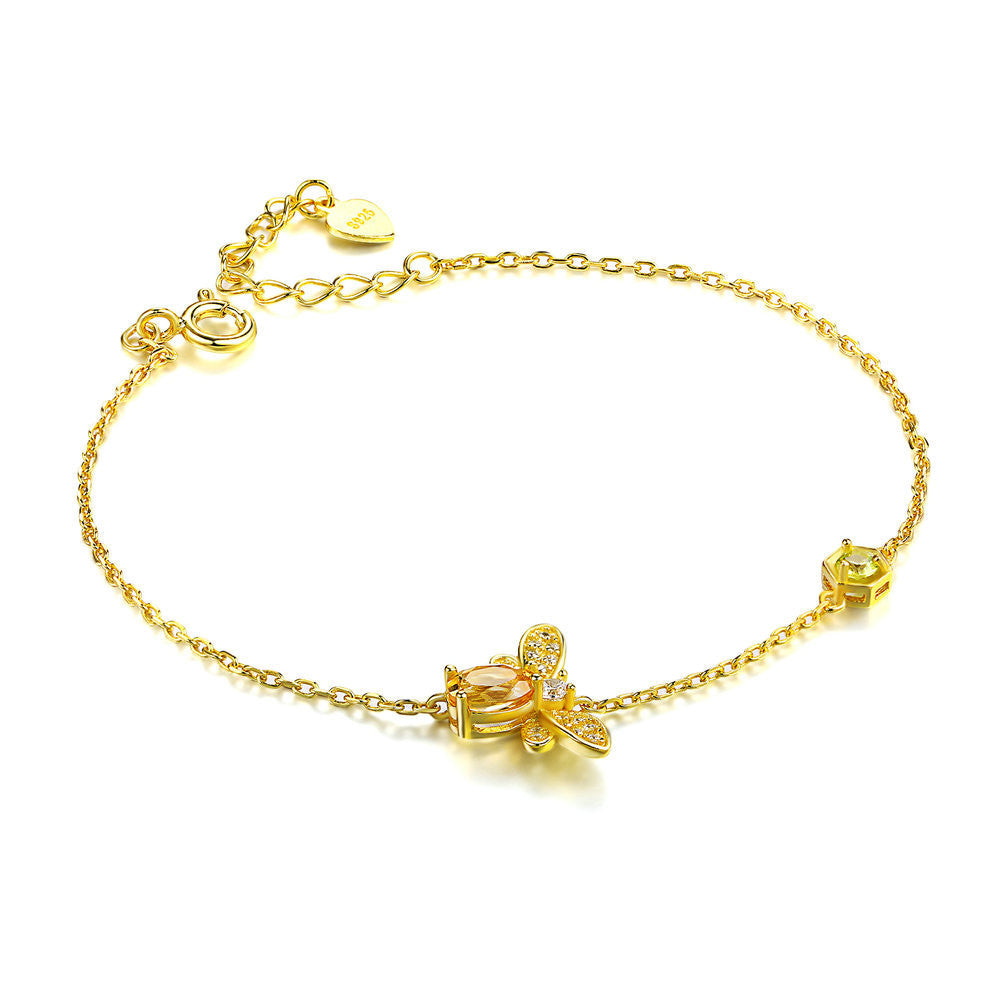 61d9a35a6c6be2 Queen Bee Citrine Bracelets | 925 Sterling Silver in Yellow Gold Plate