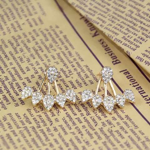 Crystal Front Back Double Sided Earrings