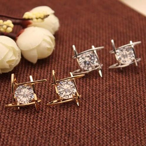 Crystal Stud Earrings, Charm and Elegance