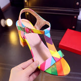 Fashion Square High Heels Pumps Sexy Sandals