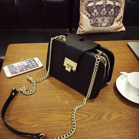 Chain Strap Flap Designer Clutch Bag