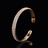 Luxury Crystal Gold Silver Bracelet Bangles
