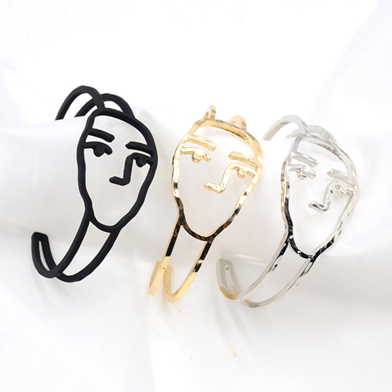 Abstract Face Bangle