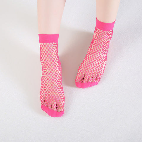 7 Colors Candy Color Breathable Fishnet Socks