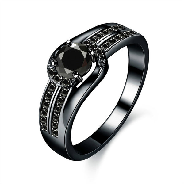Black Gold Color Wedding Rings