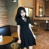 Gothic Bandage Women's Vintage Dress