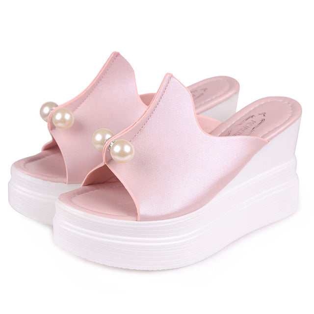 Summer Sandals Thick Heel Platform Wedges Sandals
